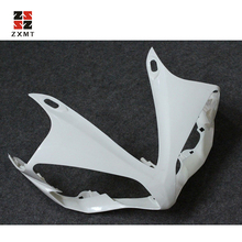 ZXMT White Unpainted Front Upper Cowl Nose Rear Tail Fairing Pre-drilled For YAMAHA YZF R1 2007 2008
