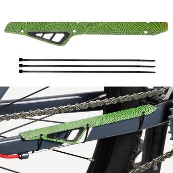 Decoración de bicicleta MTB, pegatina deportiva para exteriores, Marco con patrón de rayas, Protector de cadena de bicicleta, cubierta de protección con estilo de fácil instalación