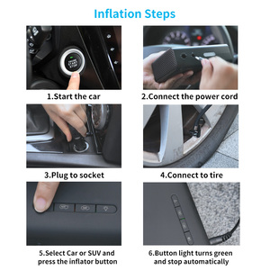 Image 5 - Baseus 지능형 자동차 공기 압축기 타이어 풍선 펌프 12V 휴대용 자동차 타이어 팽창기 자동차 타이어