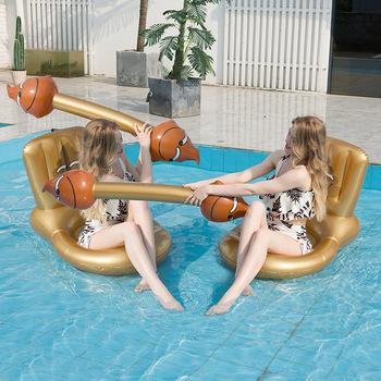 2020 nowy nadmuchiwane pływające hamak sporty wodne para gra dopasowanie elementów Stick kreatywny wc zamontować pływające wiersz bitwa wodne zabawki tanie i dobre opinie none Dorośli Floating bed Battle Water Toy