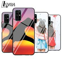 цена на For Huawei Honor 9A 9C 9S 9X Lite Phone Case Best Friend Forever for Honor 30 Pro Plus 20S 8A 8C 8S 87 7C 7S Silicone Cover