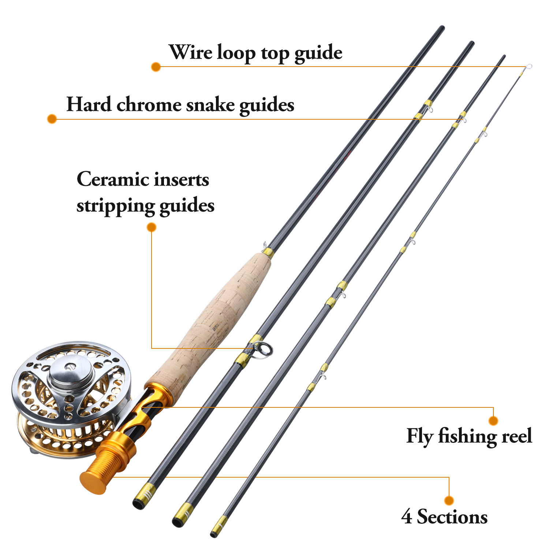 carretel conjuntos 2.7m fibra carbono voar vara