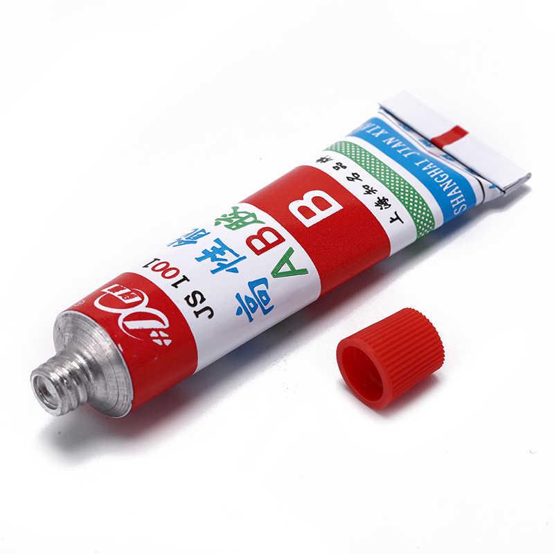 20g Super AB pegamento fuerte cianoacrilato líquido resina epoxi cuero epoxi adhesivo Metal vidrio madera papelería tienda Kit
