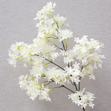 QT1-28 encryption cross cherry blossom wedding decoration silk flower factory wholesale household items