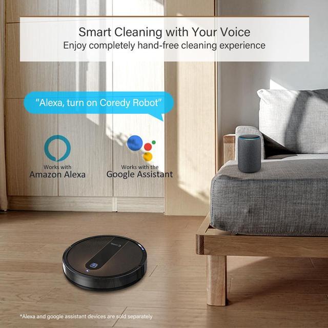 Coredy R750 odkurzacz Robot inteligentny mokre elektryczny mopem podłogi dywan automatyczne ładowanie planowane domu z Alexa Google Wifi APP