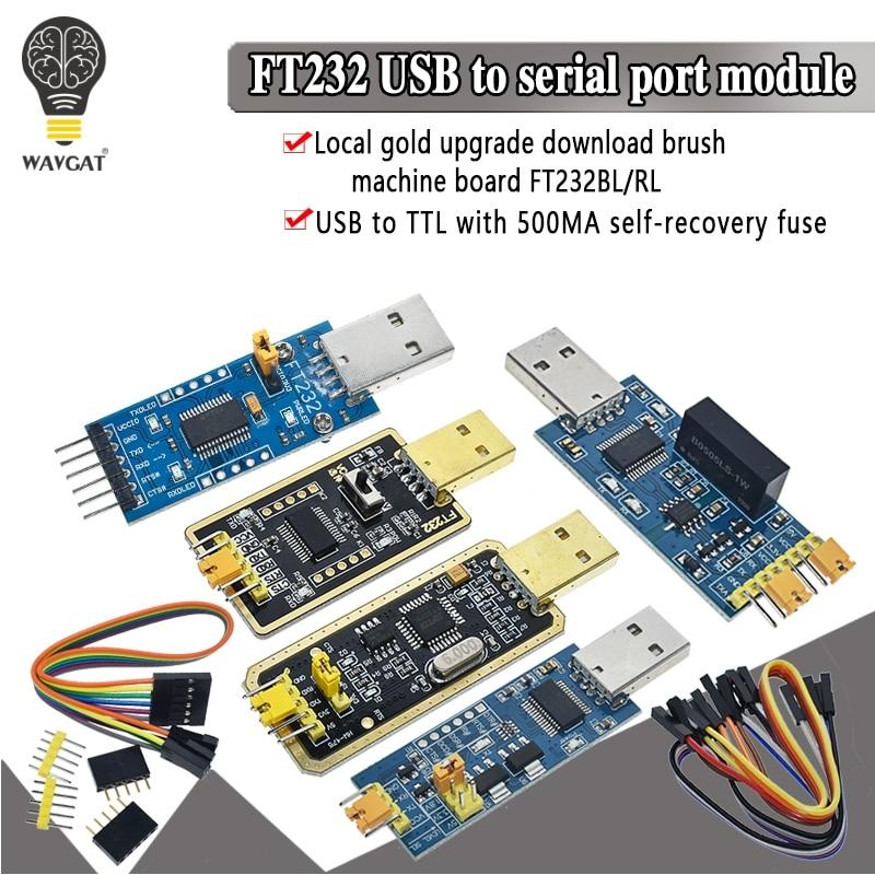 WAVGAT FT232BL FT232RL FT232 USB к TTL 5V 3,3 V кабель для загрузки к модулю последовательного адаптера для Arduino USB к 232 поддержка win10
