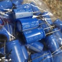10 pces nichicon bt 450v22uf 16x25mm capacitor eletrolítico bt 125 graus 22 uf/450 v capacitor industrial militar 22uf 450v|Chips para amplificador operacional|   -