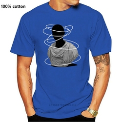 Halos T Shirt rings abstract bust statue outer space stars raglans black and white black &amp white blackandwhite