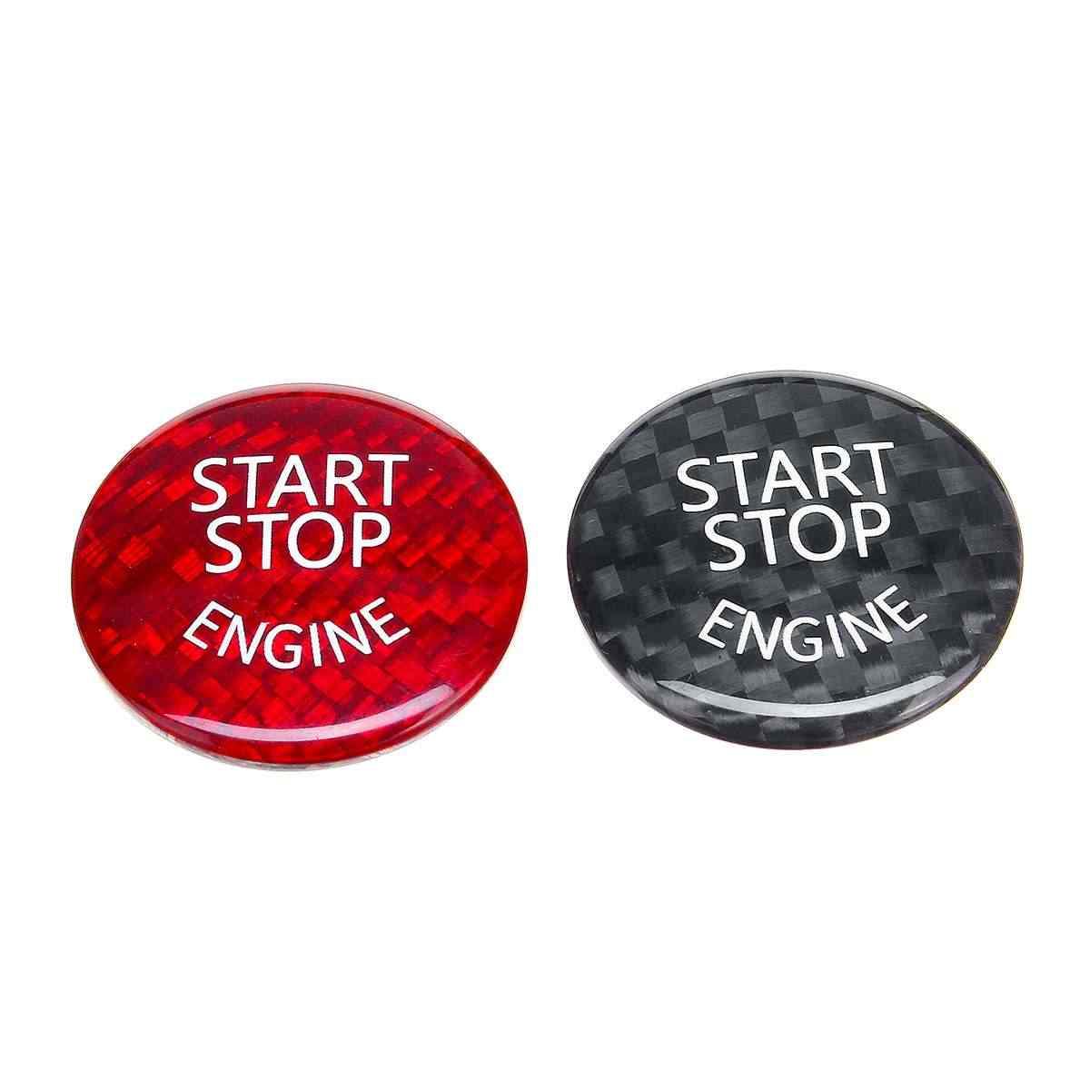 Hot Dijual Carbon Cover Stricker Mobil Start Stop Engine Tombol Switch untuk BMW F/G Classis F01 F02 f10 F20 F30 F48 G30 G37 G38
