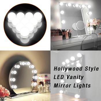 10Leds lustro kosmetyczne światła żarówki makijaż lampa 15FT lustro do makijażu światło Hollywood Vanity Lights bezstopniowa ściemniana ściana zestaw lampowy tanie i dobre opinie everso CN (pochodzenie) Przełącznik Vanity Mirror Lights Bulb 12 v LED Makeup Mirror Vanity Light Bulbs CCC CQC EMC FCC LVD