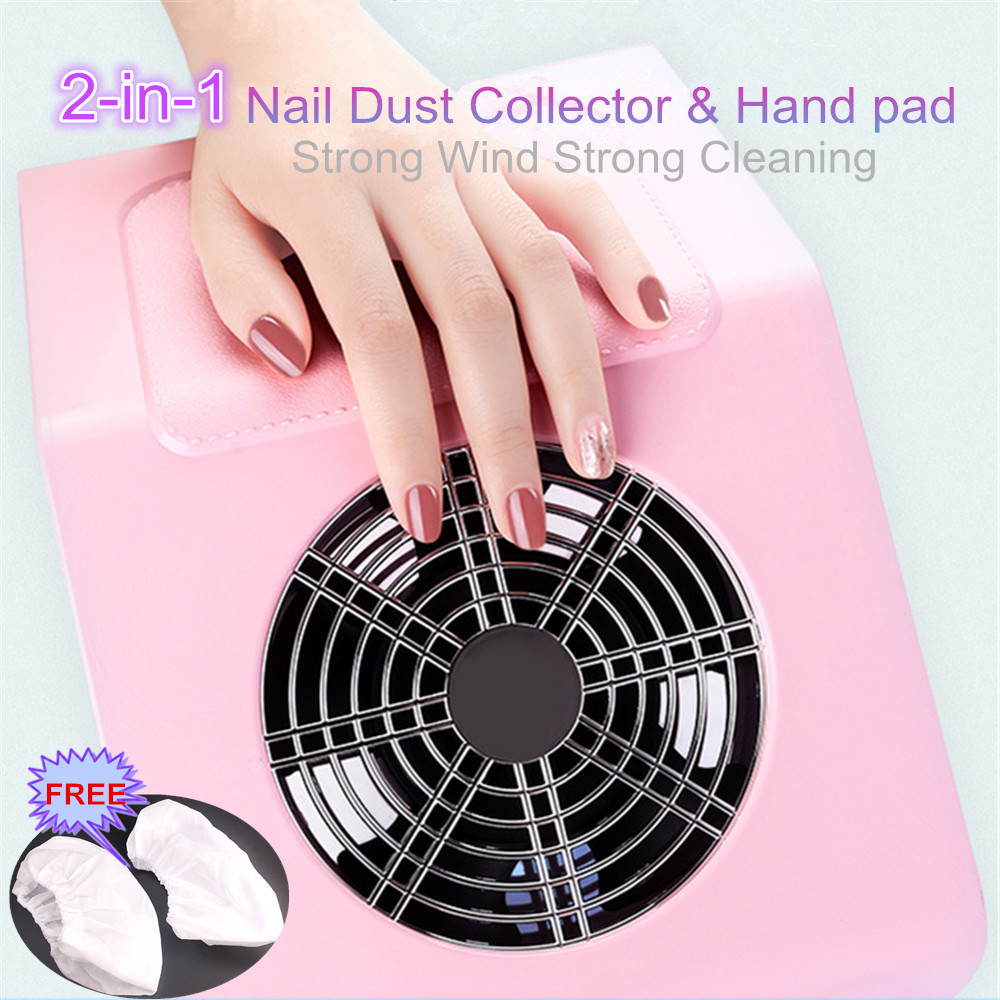 Pro Nail Dust Suction Dust Collector Fan Vacuum Cleaner Manicure Machine Tools Dust Collecting Bag Nail Art Manicure Salon Tools