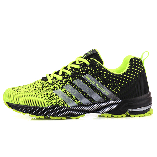 New 2019 Men Running Shoes Breathable Outdoor Sports Shoes Lightweight Sneakers for Women Comfortable Athletic Training Footwear 2