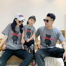 Новые летние топы для папы мамы и детей футболки женщин мужчин