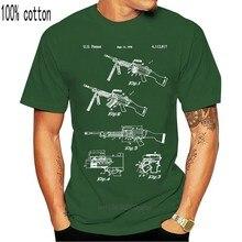 M249 piła pistolet koszula 50 Cal wojskowy prezent pistolet klub nowoczesny wojny