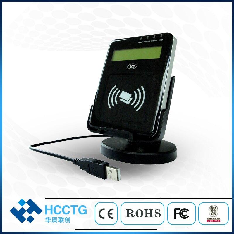 ACR1222L ЖК-дисплей Бесконтактные RFID считыватели визуальное Освещение USB ISO14443 NFC считыватель смарт-карт оплата контроль доступа