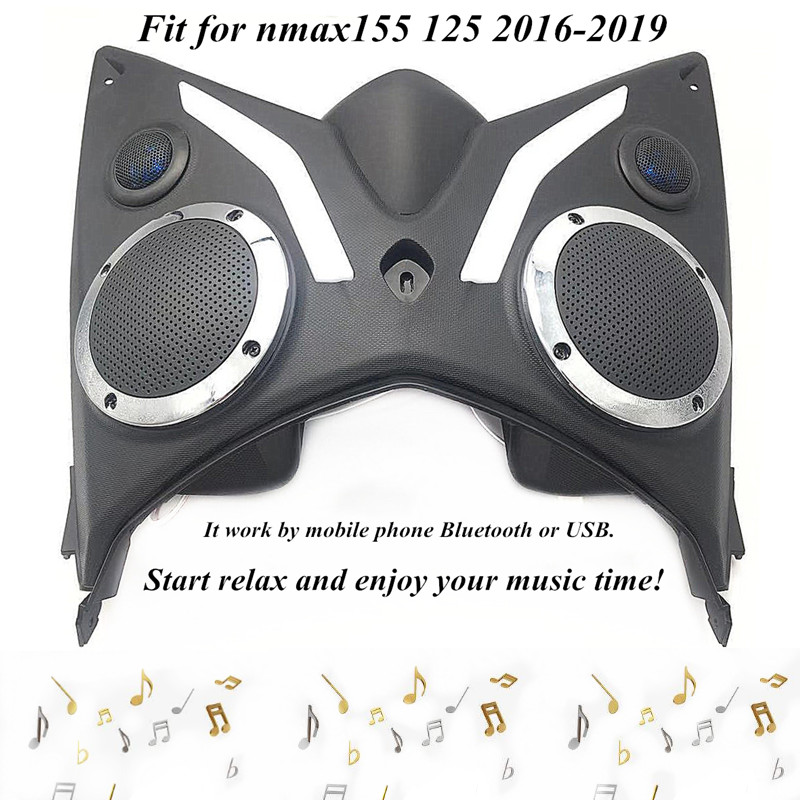 Modified Motorcycle Nmax 155 Bluetooth Audio Sound Music Player Speaker FM Radio Player Tool Box For Nmax155 Nmax 125 2016-2019