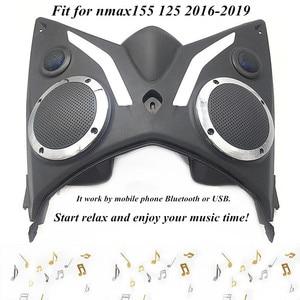 Motocicleta modificada nmax 155 bluetooth, som do alto-falante, rádio fm player, caixa de ferramenta para nmax155 nmax 125 2016-2019