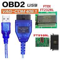 OBD2 FT232RL Cabo Vag-com Interface USB KKL VAGCOM 409.1 Auto Carro obd 2 OBD Scanner De Diagnóstico Vag Usb cabo de Ferramenta de Interface