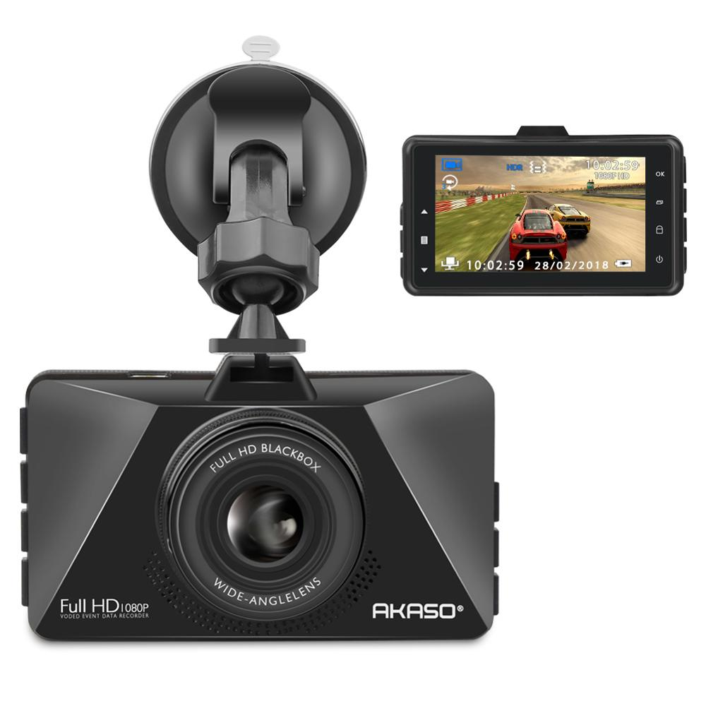 AKASO Dash Cam Car DVR FHD 1080P 3 Inch Screen Dash Camera 170 Wide Angle Car Camera with G-Sensor Car DVRS Video Recorder