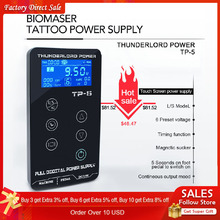 Tattoo Power Supply Tatuagem For Machines Touch Screen Source TP-5 Digital LCD Makeup Dual Supplies