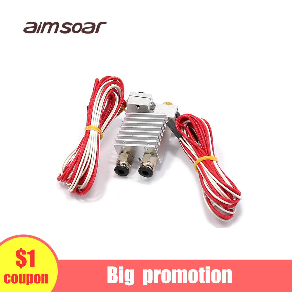 Double Head Extruder Multi Dual Extruder 3d Printer Parts 2 Head Dual Drive Extruder