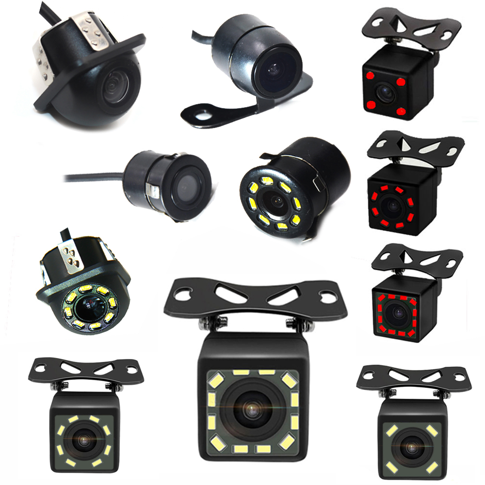 جديد HD للرؤية الليلية سيارة كاميرا الرؤية الخلفية 170 زاوية واسعة عكس كاميرا لموقف السيارات مقاوم للماء CCD LED السيارات احتياطية رصد العالمي