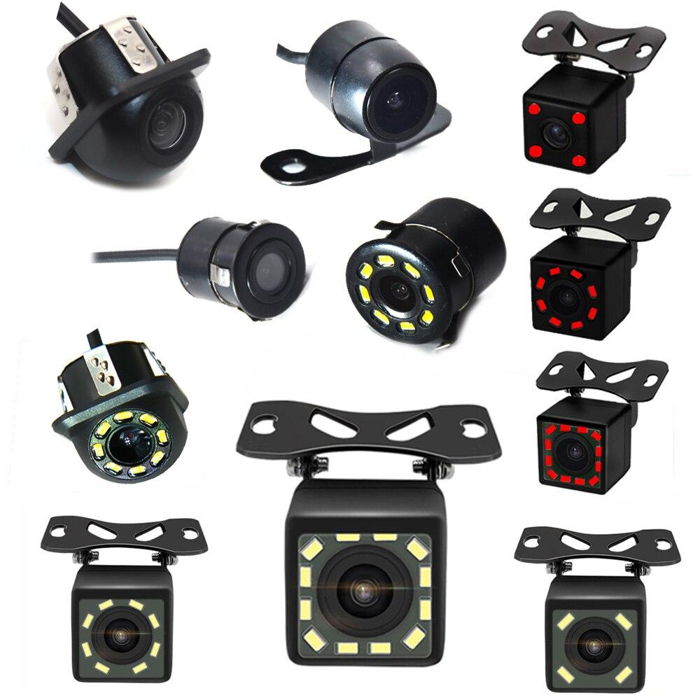 Nuevo HD noche visión vista trasera de coche Cámara 170 ancho ángulo de cámara de estacionamiento marcha atrás impermeable CCD LED de marcha atrás para automóvil Monitor Universal