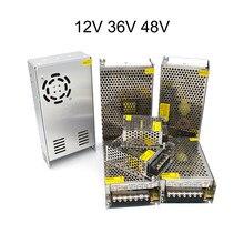 Fonte de alimentação de comutação universal 12 36 48 v volt conversor fonte 12v 1a 3a 5a 10a transformador ac dc 110v 220v smps led strip