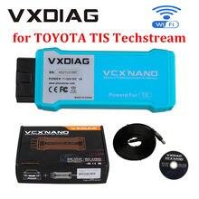 Vxdiag vcx nano para toyota tis techstream v15.00.026 compatível com sae j2534 apoio ao ano 2020 versão wifi