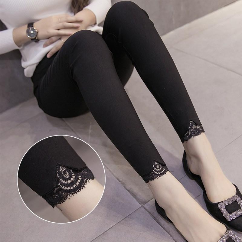 Leggings for Pregnant Woman Women's Outer Wear Spring And Summer-Capri Pants Fashion Pregnant Women Pants Thin Leggings Maternit