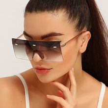 Солнцезащитные очки без оправы uv400 для мужчин и женщин модные
