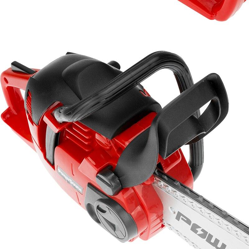 Motosserras elétricas realistas para crianças, ferramenta para