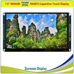 7 Inch 800*480 RA8875 Tft Lcd Module Scherm Monitor & Resistive/Capacitieve Touch Panel Parallel /Spi/Iic/I2C