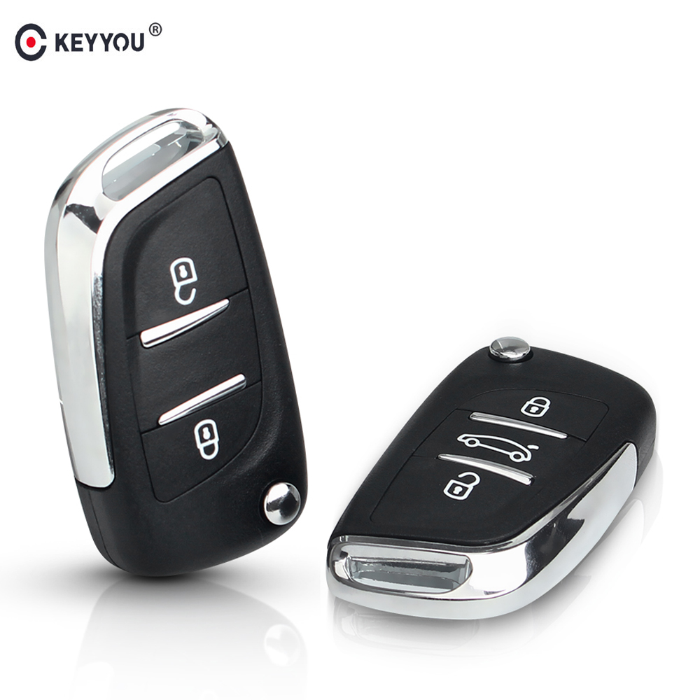 KEYYOU 2/3BT Ce0523 Modified Flip Remote Car Key Shell For Citroen Coupe VTR C2 C4 C5 C6 C8 Berlingo Xsara Picasso Auto Case