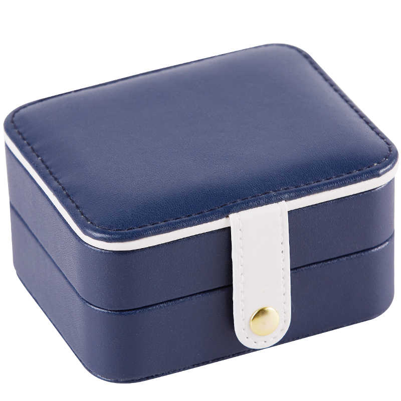 Uso Múltiple Mini joyero PU hebilla magnética pendientes de viaje collar caja de almacenamiento de anillo joyero