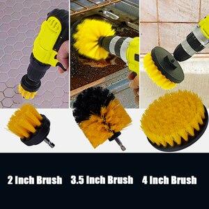 Image 3 - Jeu de brosses de perçage pour tournevis, jeu de 17 pièces, brosses de détail pour pneus de voiture, jantes, tournevis, tampon de polissage, outils de nettoyage de voiture