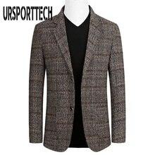 Suit Jacket Plaid Blazer Slim-Fit Business Men's Large-Size Casual New-Fashion Autumn