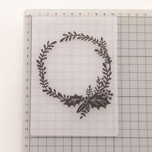 Рождественские ягоды венок папки для тиснения шаблон-штамп резка Скрапбукинг сделать карту