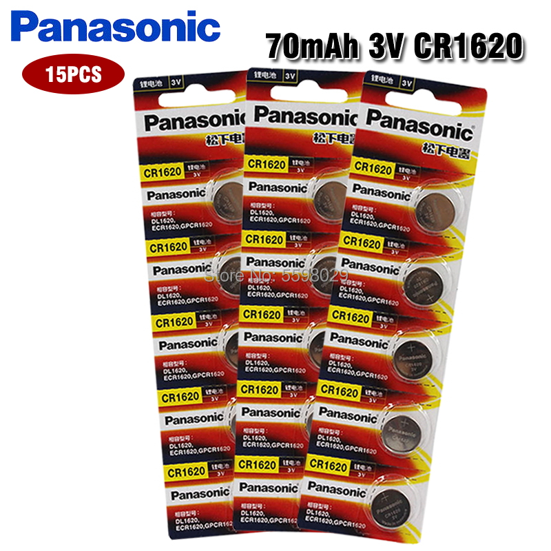 20pcs Original Panasonic Cr1620 Button Cell Battery 3v Lithium Batteries For Watch Toys Computer Calculator Control Cr 1620