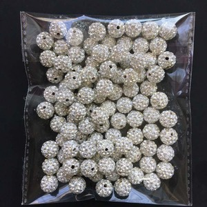 Image 3 - 2000pcs DHL Free! 10mm 6Rows Top Best Quality Micro Crytstal Paved Bead For Jewerly Making