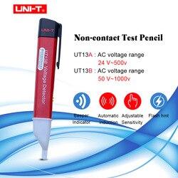 UNI T UT13A/B ręczne detektory napięcia ac 24V ~ 1000 V 50/60Hz próbnik napięcia Pen regulowana czułość (wysoka wrażliwość) w Mierniki wielofunk. od Narzędzia na