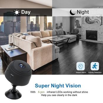 A9 Mini kamera bezprzewodowa WiFi IP Monitor sieciowy kamera bezpieczeństwa HD 1080P bezpieczeństwo w domu kamera P2P WiFi kamera konsumencka kamera IP tanie i dobre opinie Skatolly CN (pochodzenie) 1080 p (full hd) Użytku domowego PORTABLE Aluminium alloy 5*4 5*4 5cm black white 1920*1080P