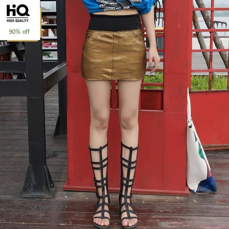 2020 New Women Leather Skirt High Waist Sheepskin Real Leather Slim Fit Sexy Mini A-Line Skirts Ladies Streetwear Female Autumn
