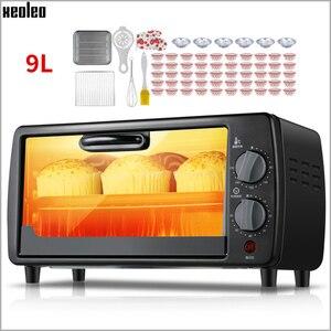 XEOLEO kuchenka do ciasta Mini piekarnik elektryczny 6-cal piec do pizzy 7L maszyna do pieczenia pieczone tart jajek/herbatniki maszyna z zegarem 600W