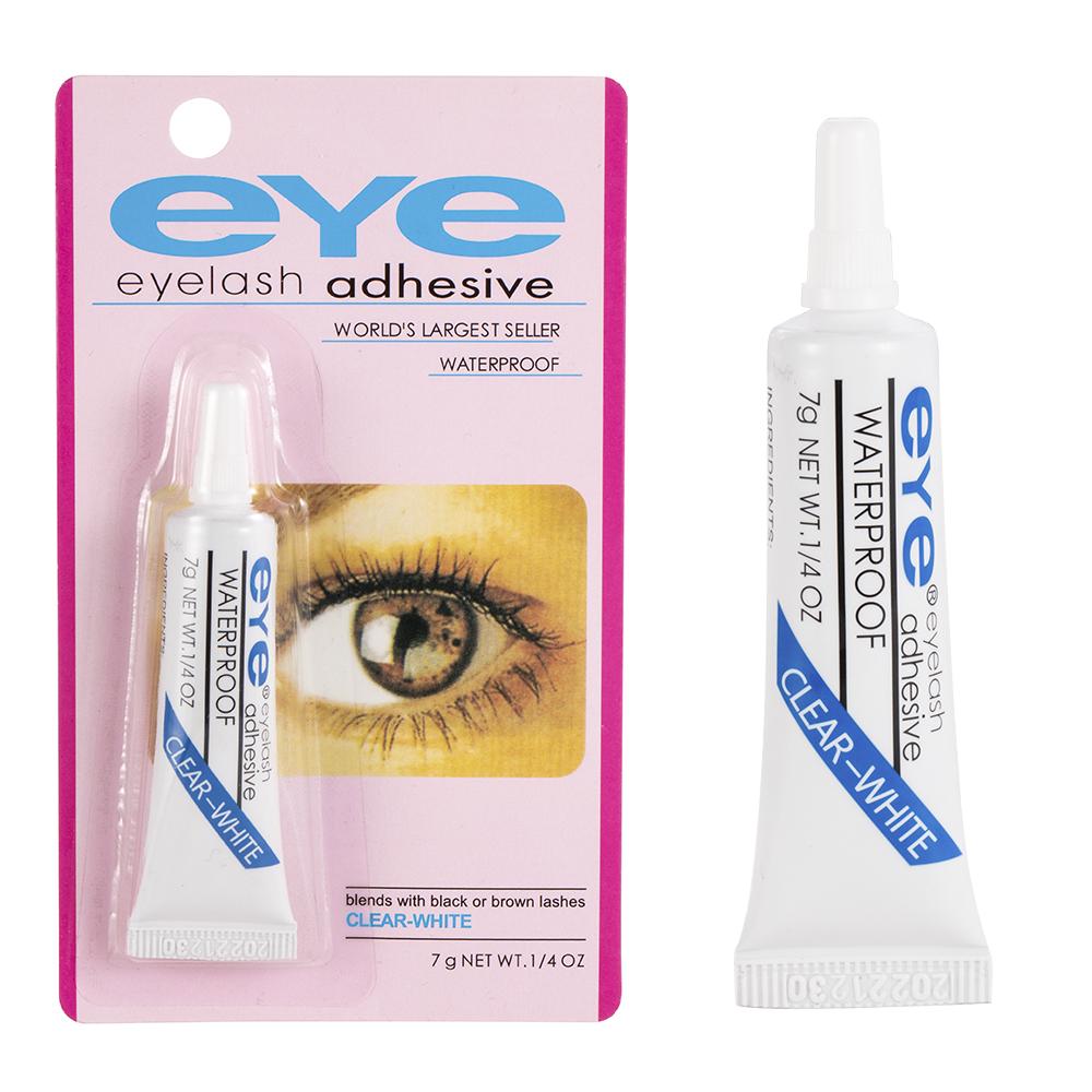 1PC False Eyelash Glue Waterproof Eye Lash Cosmetic Tools Colle Faux Cil False Eyelashes Makeup Adhesive Clear white Dark black