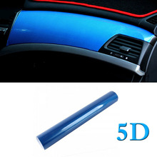 5D Ультра блестящая глянцевая виниловая пленка из углеродного волокна стикеры наклейки украшения 50x152 см синяя Высококачественная виниловая пленка для автомобиля