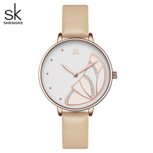 Shengke Nieuwe Vrouwen Luxe Merk Horloge Eenvoudige Quartz Dame Waterdichte Horloge Vrouwelijke Mode Casual Horloges Klok Reloj Mujer