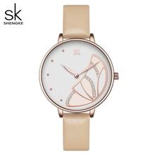Shengke montre bracelet étanche pour femmes, nouvelle marque de luxe, Simple, à la mode, décontracté