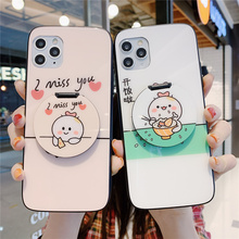 Free shipping For OPPO RENO Z 2 3 Pro Ace Mirror Tempered glass Case R17 R15 R15x Cartoon K3 K5 A5 A9 A11x Anti-fall