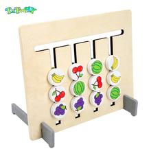 Montessori Toy Colors and Fruits Double Sided Matching Game Logical Reasoning Training Early Educational Children Learning Toys